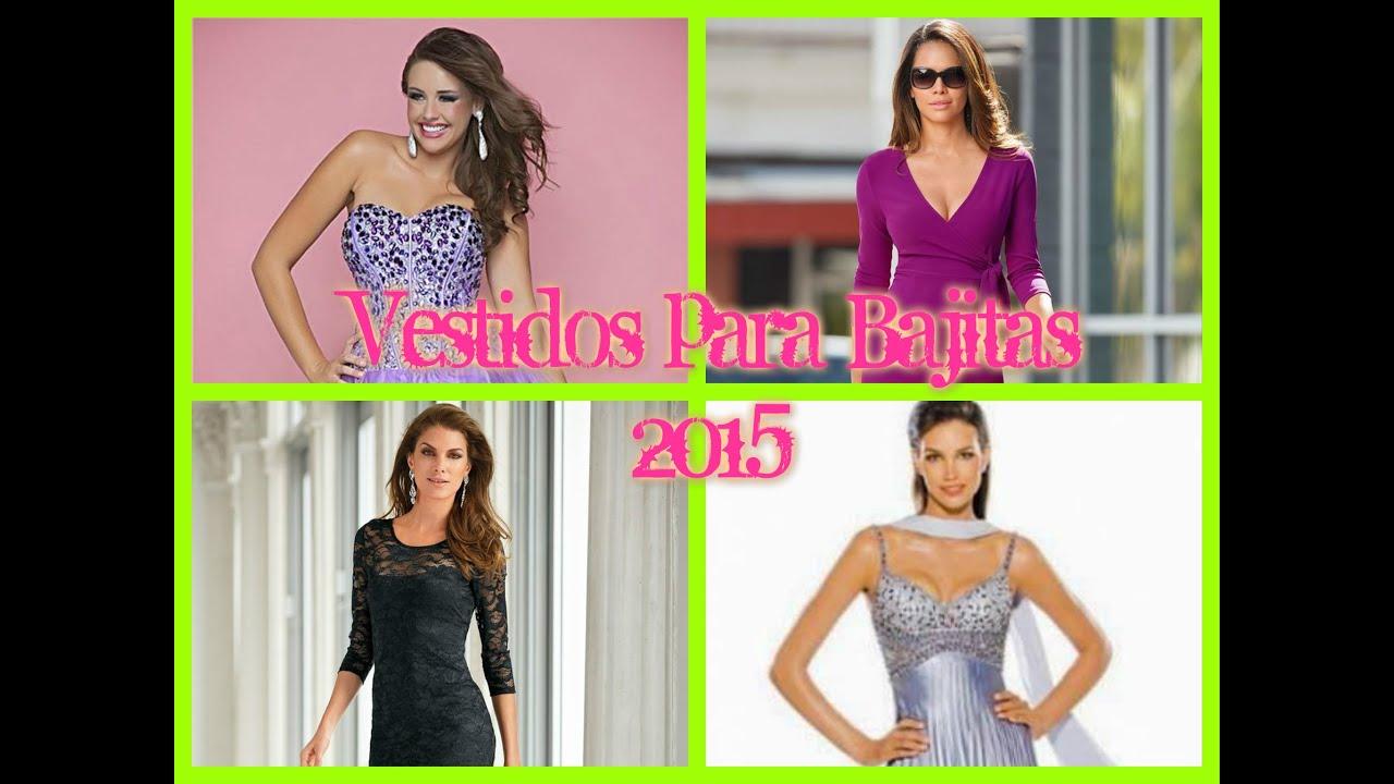 Vestidos para Bajitas 2015 - YouTube