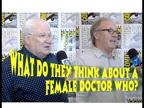Peter Davison, Colin Baker  What They REALLY Think of first WOMAN Doctor  2017 SDCC