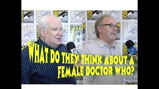 Peter Davison, Colin Baker | What They REALLY Think of NEW Doctor | 2017 SDCC