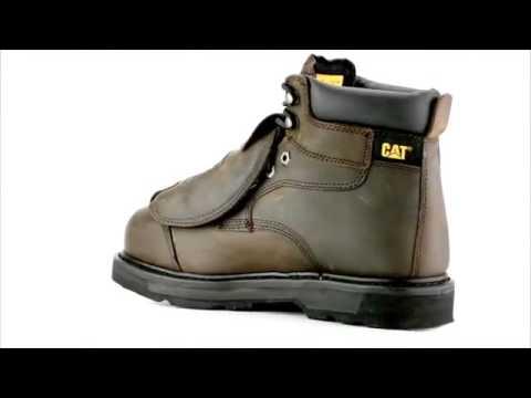 Men s Caterpillar P89311 Steel Toe Work Boots - YouTube