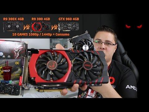 Review - AMD R9 380X 4GB vs GTX 960 4GB vs R9 380 4GB em 10 GAMES 1080p e 1440p