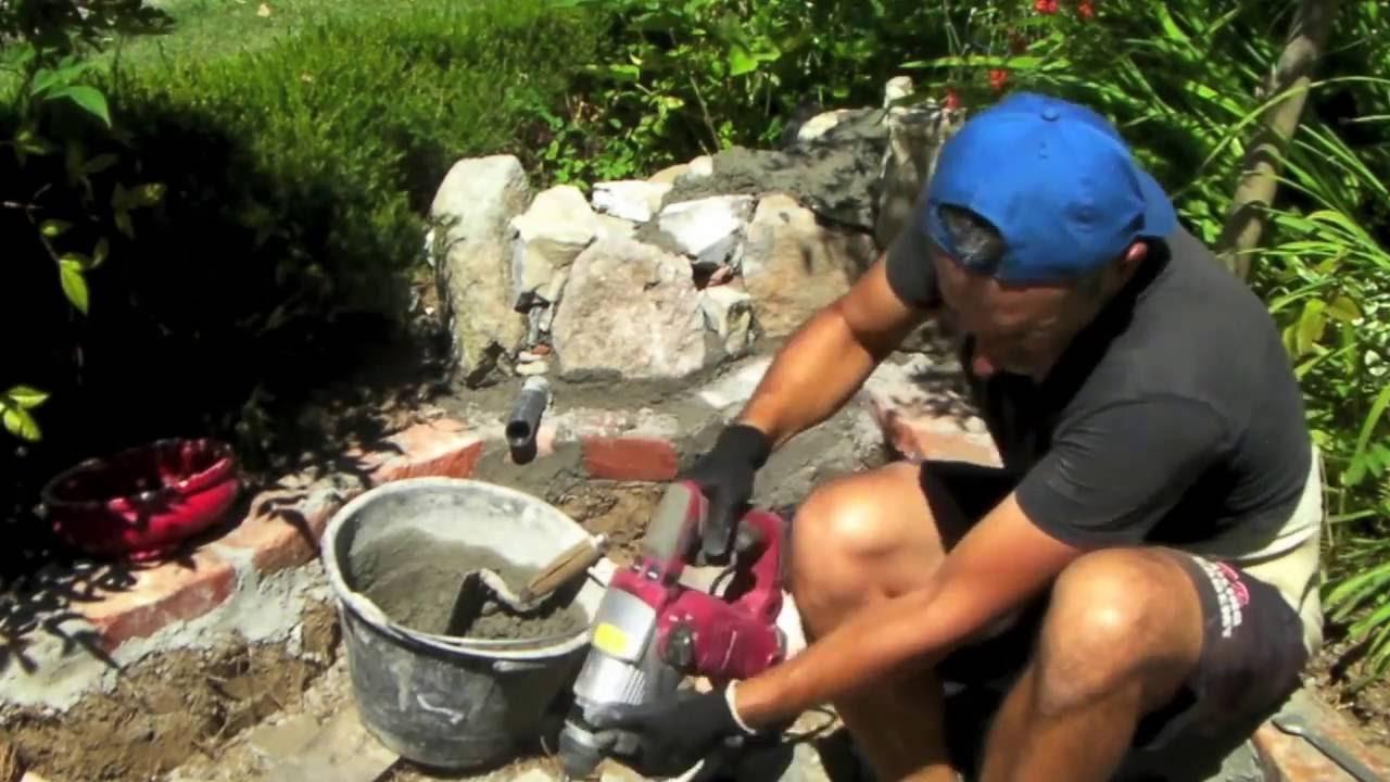 Come Costruire Una Fontana In Cemento.Come Creare Un Piccolo Laghetto In Giardino Youtube