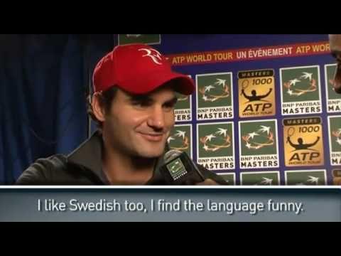 2010 ATP Paris Interview Roger Federer Showing His Multi-language Skills
