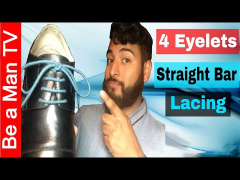 How to Lace Dress Shoe 4 Eyelets