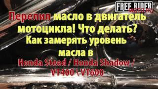 МотоХак Перелив масла в двигателе мотоцикла на примере Honda Steed Honda Shadow VT400 VT600