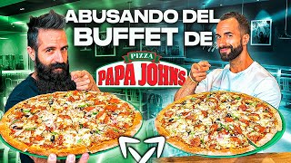 ABUSANDO DEL BUFFET DE PIZZA DE PAPA JOHN'S