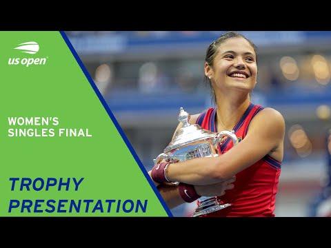 Women's Singles Final   Trophy Presentation   2021 US Open