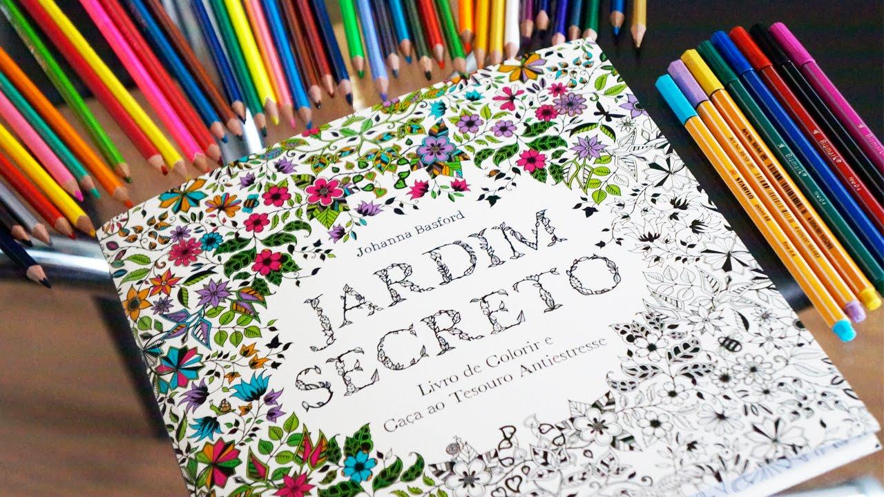Jardim Secreto Livro De Colorir Para Adulto O Que Uso Para