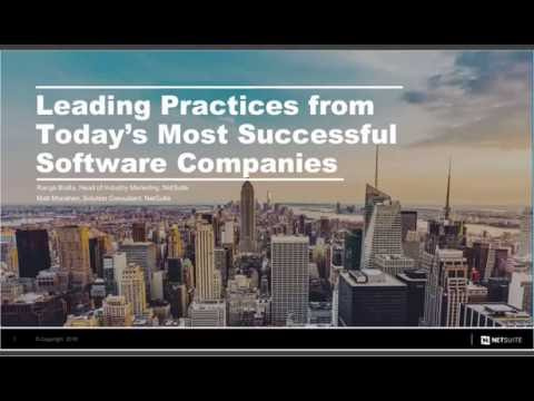Leading Practices from Today's Most Successful Software Companies