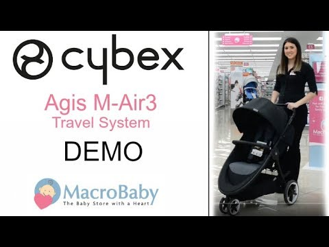 Cybex Agis M-Air 3//Aton//Aton Base Travel System Moon Dust