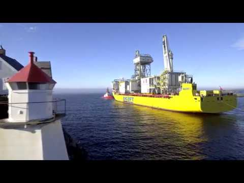 Peregrino 2 drilling modules sail away
