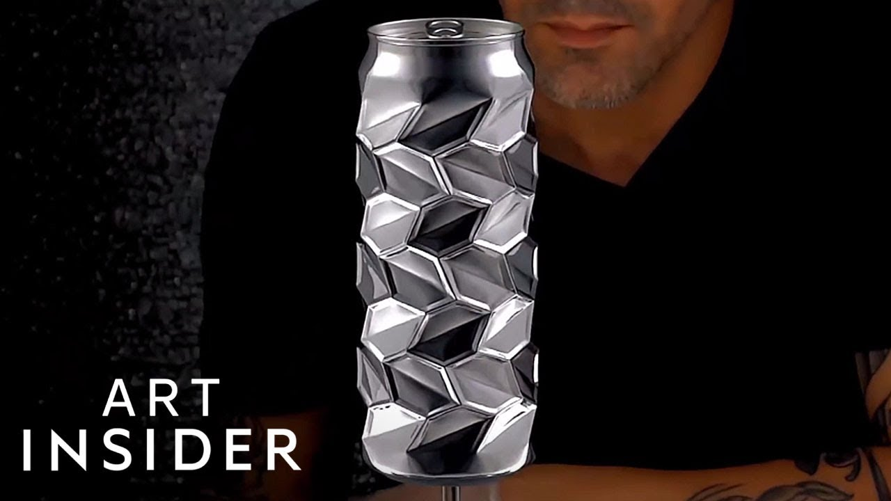 cans are transformed into amazing works of art youtube