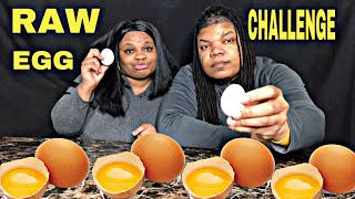 RAW EGG EATING CHALLENGE W/ JAZZNOTIS  WE ALMOST VOMIT