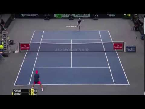 Lucas Pouille vs Andy Murray 6/3-6/0 match point