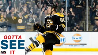 GOTTA SEE IT: David Pastrnak Roasts Ducks With 4 Goal Game