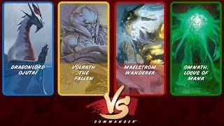 Commander VS S9E8: Dragonlord Ojutai vs Volrath vs Maelstrom Wanderer vs Omnath