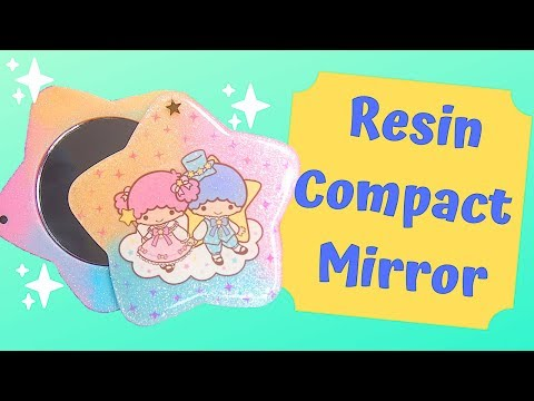 Watch me Resin | DIY Resin Compact Mirror | Ft: Little Twin Stars