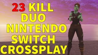 23 Kill Duo Gameplay | Nintendo Switch and Xbox Crossplay | (Fortnite Battle Royale)
