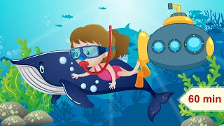 Sea Animals and Submarine and Relaxing Music for Children | Lullaby for Kids & Babies