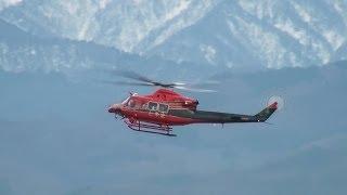 [富山県消防防災ヘリコプター] Bell 412EP JA6768 LANDING TOYAMA Airport 富山空港 2013.12.9