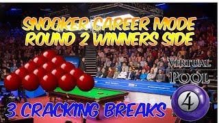 Virtual Pool 4 Snooker | Event 2 Round 2 | Three Good Breaks