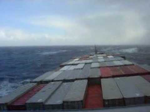 ship rolling in the north pacific
