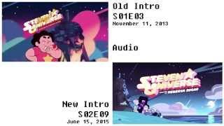 Repeat youtube video Steven Universe Intro Comparison - Old vs New