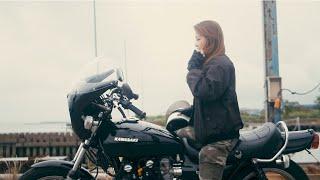 【Full version】Beautiful Kawasaki woman / 女性が乗るZ1の直管サウンド