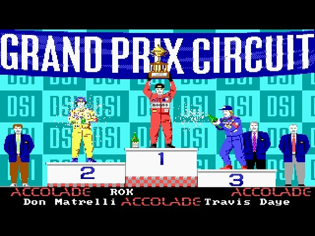 Grand Prix Circuit (PC/DOS) 1988, Accolade ,DSI