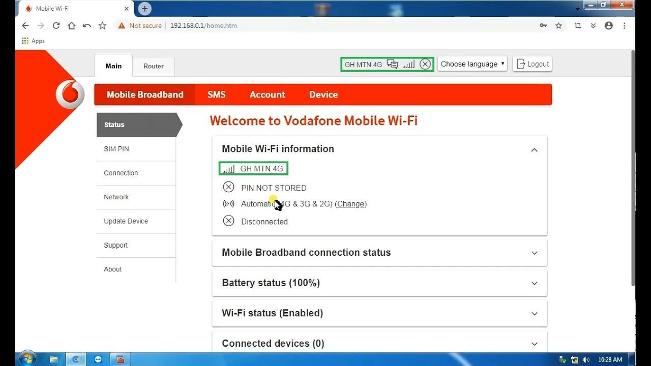 Unlock / Decode Vodafone Huawei R218h 4G MiFi - EGGBONE