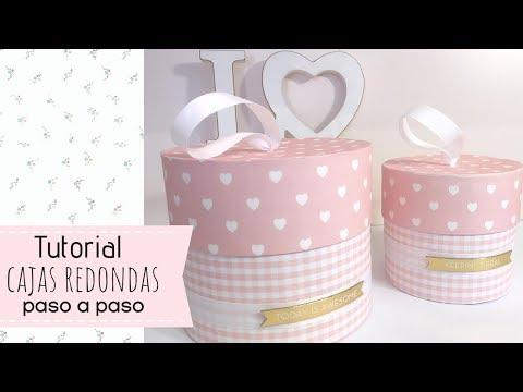 Cajitas Para Bautizo Nino.Tutorial Cajas Redondas Paso A Paso Youtube