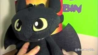 Squeeze & Growl TOOTHLESS Plush! Dreamworks Dragons Cute Night Fury Toy Review! by Bin