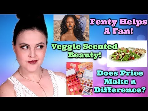 What's Up in Makeup NEWS! Fenty Helps a Fan! Veggie Scented Makeup Trend! Is High End REALLY Better?