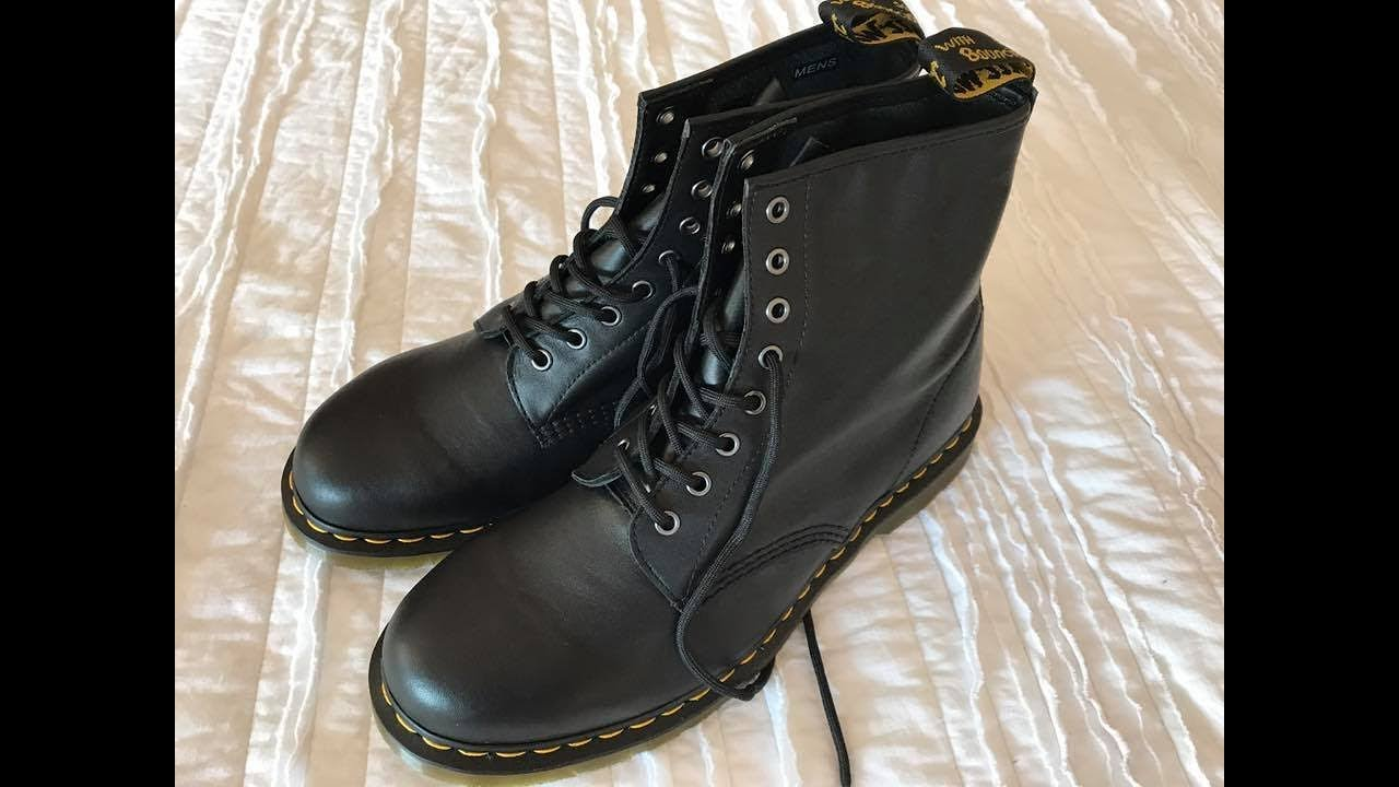 c561f725669 DR. MARTENS 1460 Unboxing   Reinvented Black Nappa - YouTube