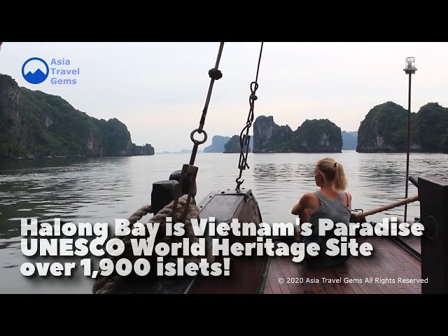 Halong Bay is Vietnam's Paradise and UNESCO World Heritage Site with over 1900 islets!