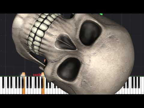 Spooky Scary Skeletons [Piano Tutorial] (Synthesia) // Mr.Meeseeks Piano