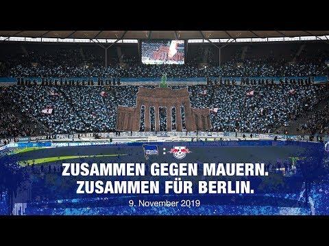 Zusammen gegen Mauern. Zusammen für Berlin - Hertha BSC vs. Leipzig - 2019