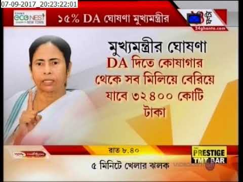 DA announcement for West Bengal Govt Employees