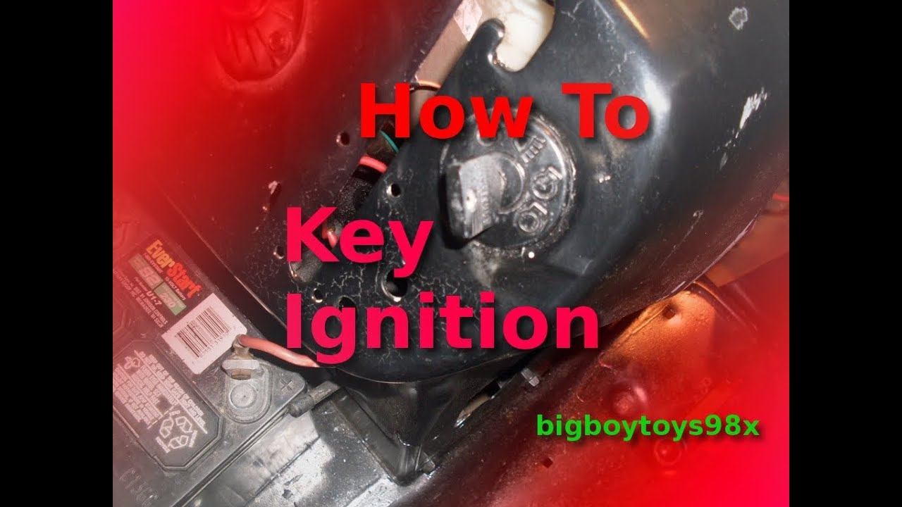 How To Re Wire Your Lawn Mower With Key Igniton Youtube Indak Blower Switch Wiring Diagram