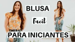 BLUSA PARA INICIANTES COM MANGA BABADO