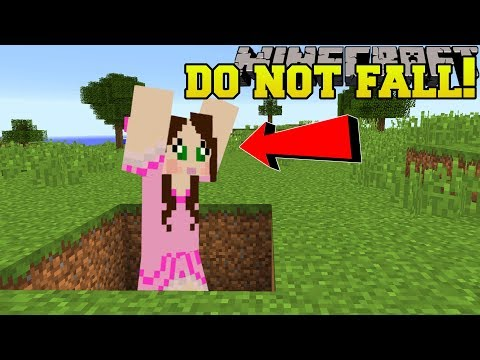 Minecraft: *NEVER* FALL IN HOLES! - THE WEIRD HOLES! - Custom Map
