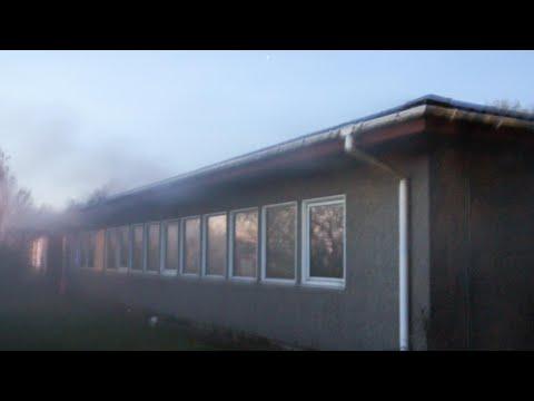 27.04.21 Brand i nedlagt skole i Slagelse udløste stor alarm