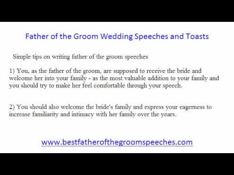 Father of the Groom Speeches - Good Tips on Father of the Groom Speeches