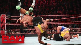 Heavy Machinery vs. Zack Ryder & Curt Hawkins - Tag Team Gauntlet Match: Raw, March 4, 2019