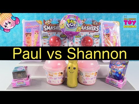 Pikmi Pops Season 2 Shopkins 10 Snackables Paul vs Shannon Challenge | PSToyReviews
