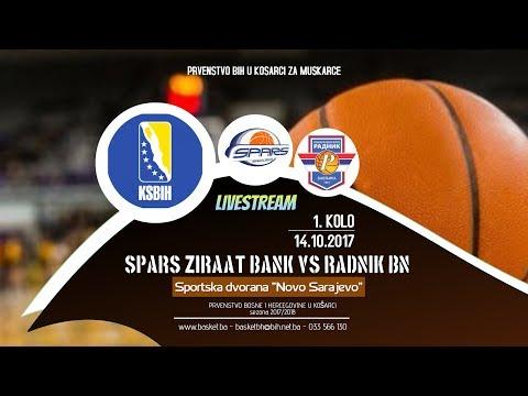 OKK Spars Zirrat Bank - KK Radnik BN Basket - 1 kolo - 2017/2018 - KSBIH
