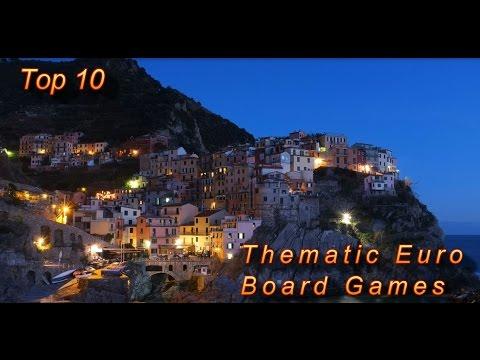 Top 10 Thematic Euro Board Games - Family Showdown Live!