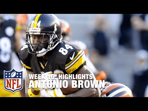 Antonio Brown Highlights (Week 10) | Browns vs. Steelers | NFL