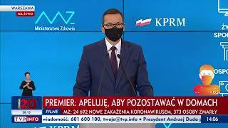 Koronawirus: Nowe obostrzenia. Konferencja premiera