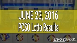 PCSO Lotto Results June 23, 2016 (6/49, 6/42, 6D, Swertres & EZ2)